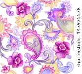 Abstract Seamless Floral And...