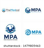 medical logo with tooth globe... | Shutterstock .eps vector #1479805463