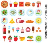 vector set of food isolated on...