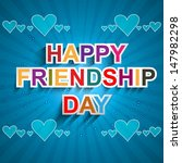 fantastic happy friendship day... | Shutterstock .eps vector #147982298