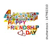 creative happy friendship day... | Shutterstock .eps vector #147982310