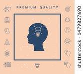 man silhouette with light bulb  ...   Shutterstock .eps vector #1479827690