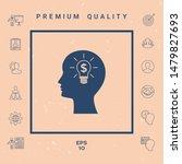 man silhouette   light bulb...   Shutterstock .eps vector #1479827693
