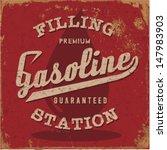 vintage gasoline   motor oil  ... | Shutterstock .eps vector #147983903