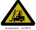 forklift truck sign illustration | Shutterstock .eps vector #1479873