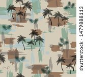 all over palm tree pattern on... | Shutterstock .eps vector #1479888113