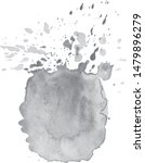abstract watercolor grayscale... | Shutterstock .eps vector #1479896279