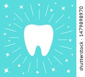 healthy white tooth icon. round ... | Shutterstock . vector #1479898970