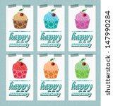 card. template design. cake... | Shutterstock .eps vector #147990284