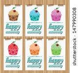 card. template design. cake... | Shutterstock .eps vector #147990308