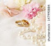 wedding decoration with wedding ... | Shutterstock . vector #147990884
