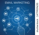 email marketing concept  blue...