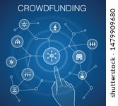 crowdfunding concept  blue...