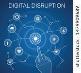 digital disruption concept ...