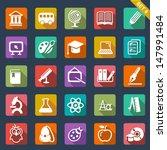 education icon set  flat design | Shutterstock .eps vector #147991484