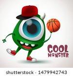 cool monster basketball... | Shutterstock .eps vector #1479942743