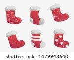 Set Of Christmas Socks Isolated ...