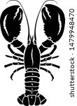 lobster silhouette icon on...   Shutterstock .eps vector #1479948470