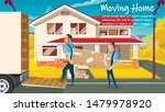 home moving  relocation service ... | Shutterstock .eps vector #1479978920