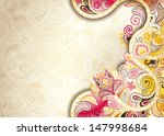 abstract curve floral background | Shutterstock .eps vector #147998684