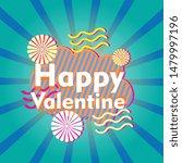 happy valentine  beautiful... | Shutterstock .eps vector #1479997196