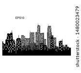 vector city silhouette with...   Shutterstock .eps vector #1480023479