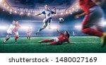 female soccer player in action... | Shutterstock . vector #1480027169