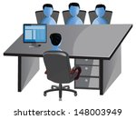 vector design  of office... | Shutterstock .eps vector #148003949