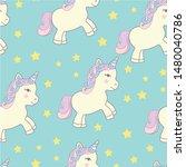 children's cute pattern with... | Shutterstock .eps vector #1480040786
