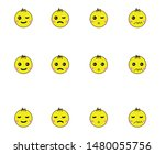 baby emoticon or smile icon for ... | Shutterstock .eps vector #1480055756