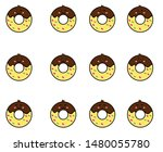 donuts emoticon or smile icon... | Shutterstock .eps vector #1480055780