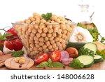 chickpea salad with ingredient | Shutterstock . vector #148006628