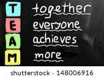 chalk drawing   team | Shutterstock . vector #148006916