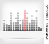 monochrome digital equalizer... | Shutterstock . vector #148008623