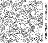 zentangle inspired oriental... | Shutterstock .eps vector #1480089380