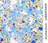 watercolor seamless hand drawn... | Shutterstock . vector #1480093409
