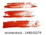 set of red brush strokes | Shutterstock . vector #148010279