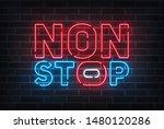 non stop neon sign  bright... | Shutterstock .eps vector #1480120286