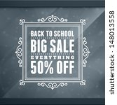window advertising sale 50  off ... | Shutterstock .eps vector #148013558
