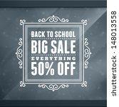 window advertising sale 50  off ... | Shutterstock .eps vector #148013558