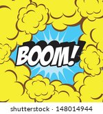 boom    comic speech bubble ... | Shutterstock . vector #148014944