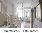 front door with entrance hall... | Shutterstock . vector #148016504