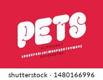 pets style font design ... | Shutterstock .eps vector #1480166996