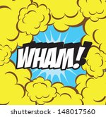 cartoon   wham  comic book ... | Shutterstock . vector #148017560