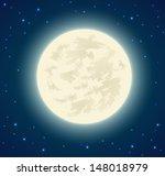 full moon background   vector...   Shutterstock .eps vector #148018979