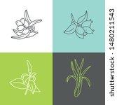 vector set design colorful... | Shutterstock .eps vector #1480211543