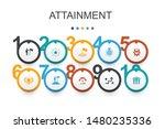 attainment infographic design...