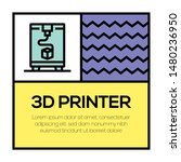 3d printer and illustration...   Shutterstock .eps vector #1480236950