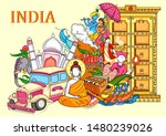 vector design of indian collage ... | Shutterstock .eps vector #1480239026
