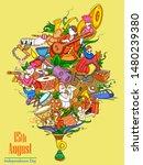 vector design of indian collage ...   Shutterstock .eps vector #1480239380